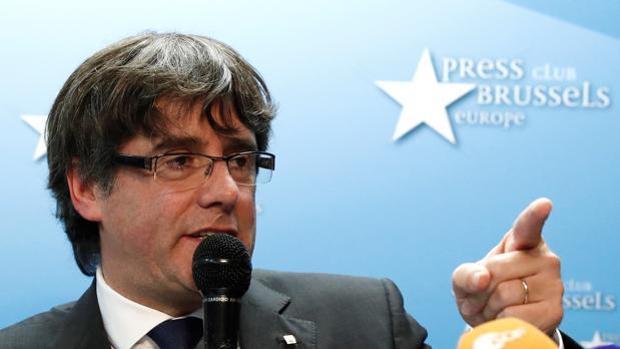 Puigdemont, en un acto en Bruselas