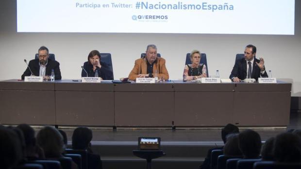 Girauta, Isabel Bonig, Bauzá, Rosa Díez y Fidalgo en el acto celebrado este lunes