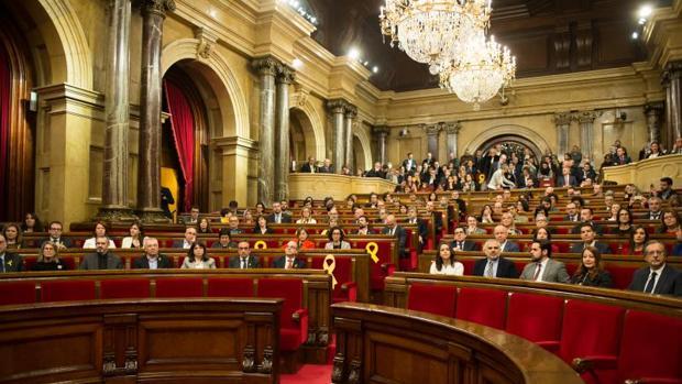 Pleno del Parlamento de Cataluña, en la sesión constitutiva de la XII Legislatura