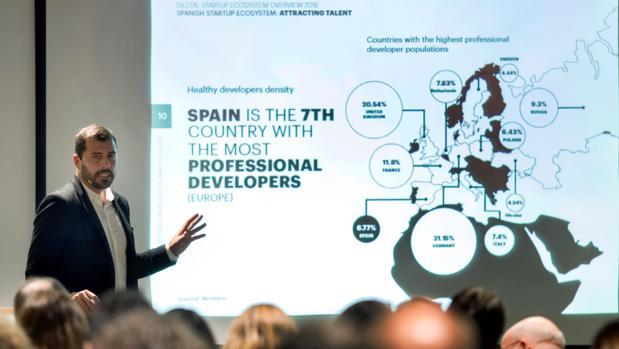 El director del 4YFN Programme, Esteban Redolfi, durante la presentación del 4YFN