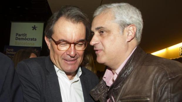 Artur ,as y Germá Gordó en febrero de 2017 en un acto del PDECat