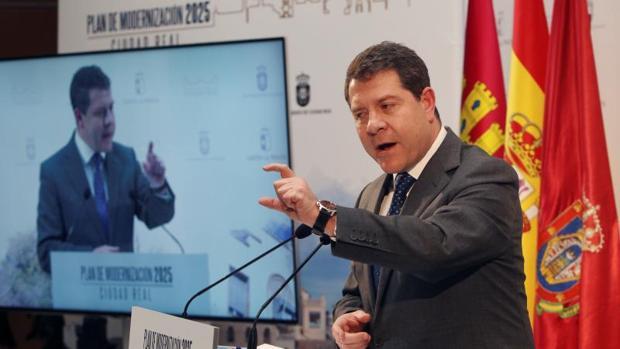García Page, en un acto ayer en Ciudad Real