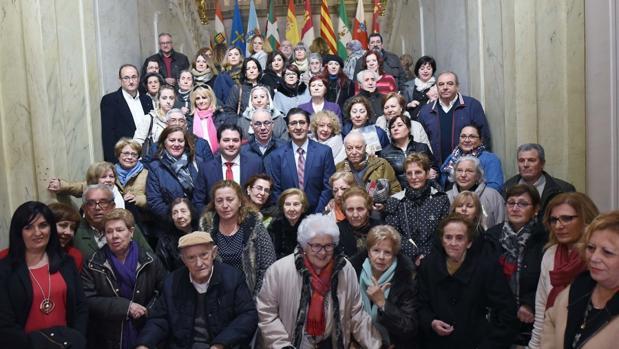 Familiares de represaliados por el franquismo, en la Diputación de Ciudad Real