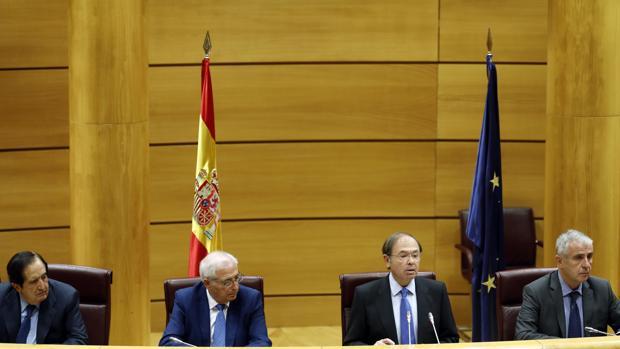 Pío García Escudero, en una sesión del Senado