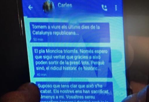Los mensajes de Puigdemont difundidos hoy en Telecinco
