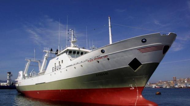 El «Playa Pesmar Uno» apresado en Argentina, en una imagen de archivo en el puerto de Vigo
