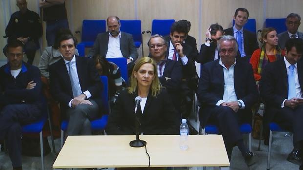 Doña Cristina, en su declaración en el juicio del caso Nóos