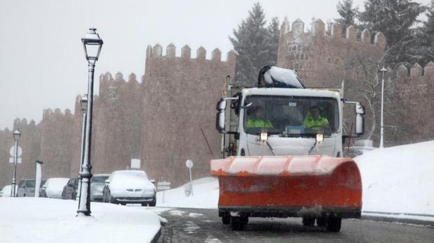 Ávila, que se vio afectada por el temporal este pasado fin de semana, se mantiene en alerta por nieve