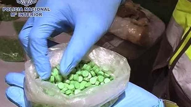 Imagen de archivo de un alijo de MDMA intervenido por la Policía