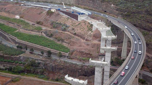Autovía que fue objeto de reclamación administrativa en el norte de Gran Canaria