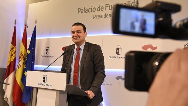 Francisco Martínez Arroyo durante su comparecencia en rueda de prensa