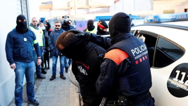 Operación desplegada por los Mossos esta semana contra la banda de moteros