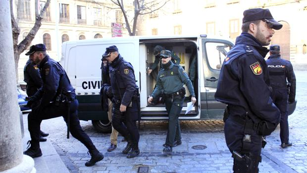 José Muñoz Mojica, este viernes a su llegada a la Audiencia Provincial de Toledo