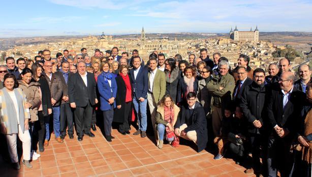Con Cospedal con alcaldes y concejales de la provincia