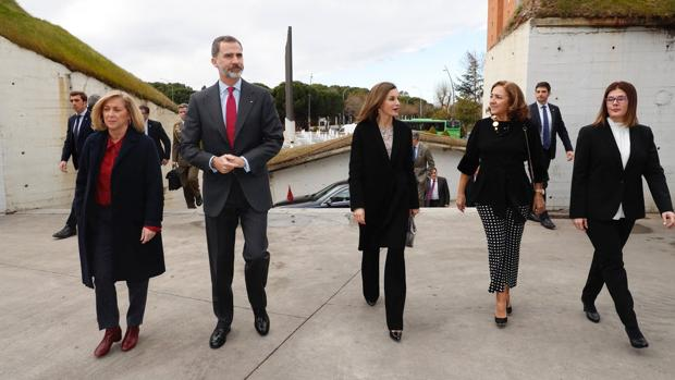 Los Reyes, a su llegada al Teatro del Bosque en Móstoles