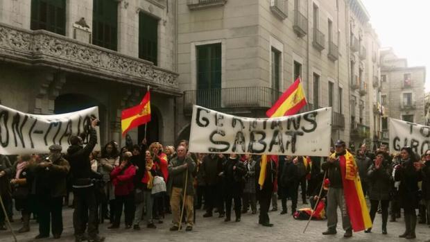 Imagen de la manifestación en Gerona