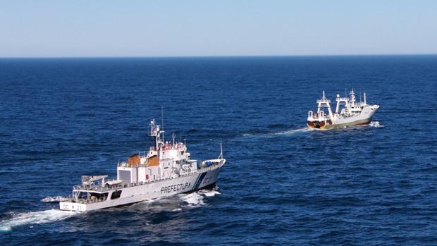 El barco apresado, de una armadora gallega