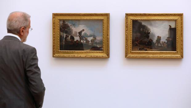 Imagen de los dos cuadros tomada este martes