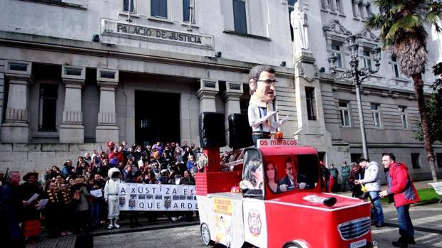 Concentración de los trabajadores de justicia esta semana en La Coruña