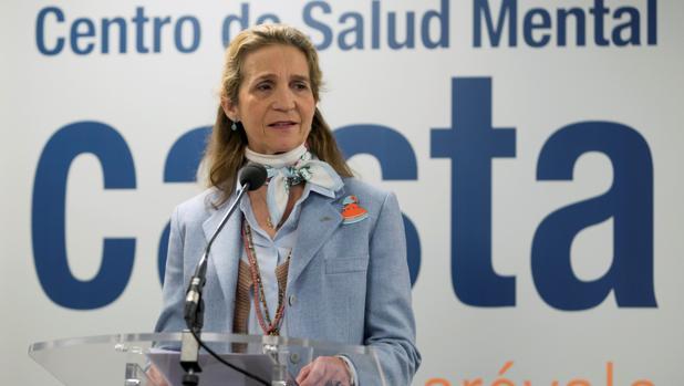 La Infanta Elena, durante la inauguración de un centro de Salud Mental en Arévalo (Ávila)