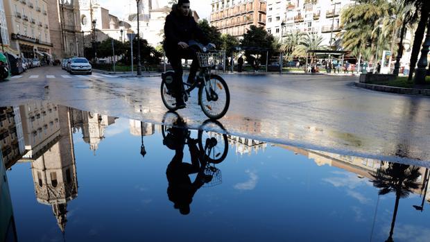 Imagen tomada en la plaza de la Reina de Valencia este martes