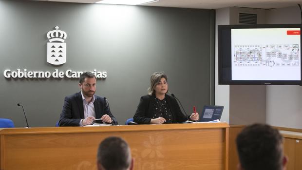 El consejero canario de Turismo, Isaac castellano, y la gerente de Promotur, María Méndez