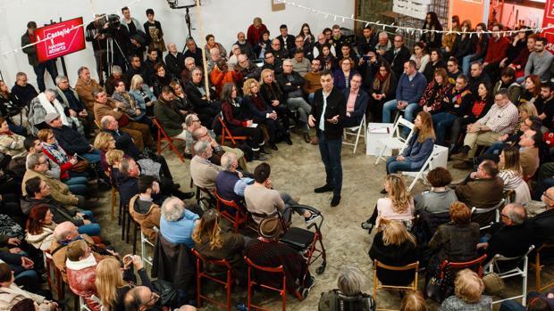 Imagen del acto protagonizado por Pedro Sánchez en Castellón