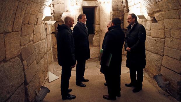 Rajoy, ayer en Palencia durante la presentación del Año Europeo del Patrimonio Cultural