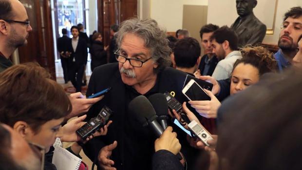 El portavoz de ERC en el Congreso de los Diputados, Joan Tardá, en la Cámara Baja