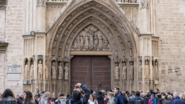 Imagen de un grupo de turistas captada en el centro de Valencia