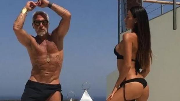 Gianluca Vacchi bailando con su expareja, en uno de sus célebres vídeos