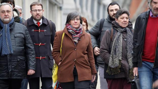La exdiputada de la CUP Mireia Boya a su llegada el miércoles a la sede del Tribunal Supremo,