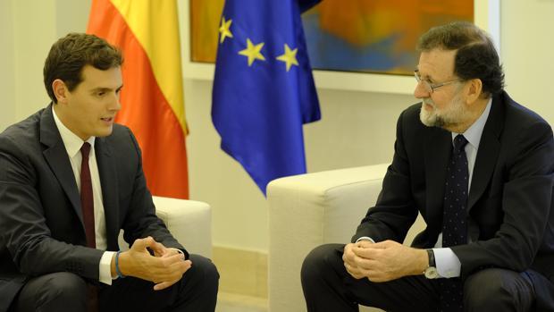 Mariano Rajoy y Albert Rivera, en La Moncloa, el pasado 2 de octubre
