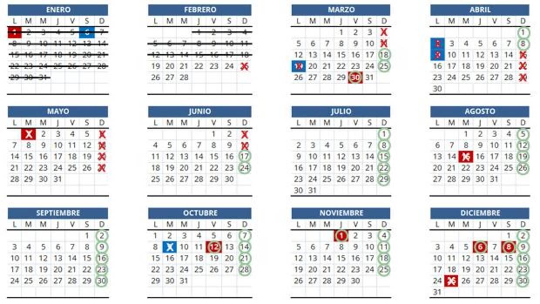 Calendario Valencia 2019.Nuevos Horarios Comerciales En Valencia Calendario Con Los Domingos