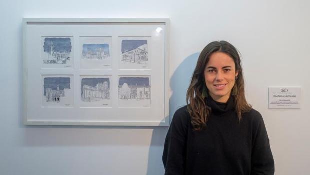 Elisa Beltrán, en la sala de exposiciones del Teatro Zorrilla