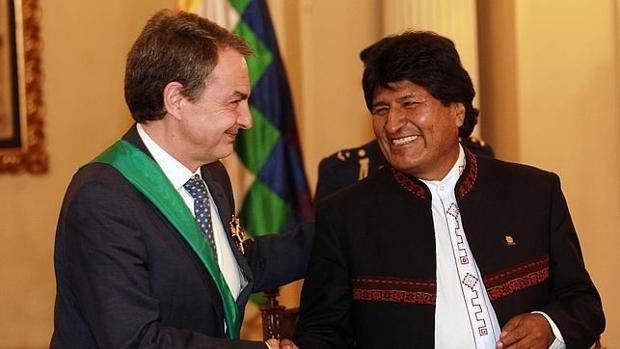 Zapatero, junto a Evo Morales, en una imagen de archivo