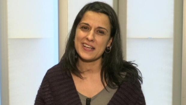 La exdiputada de la CUP Anna Gabriel en TV3