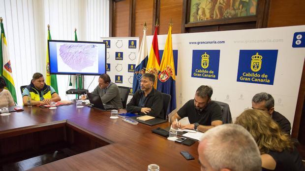 El Comité Asesor del Plan de Emergencias de Gran Canaria reunido este jueves para analizar la previsión metereológica