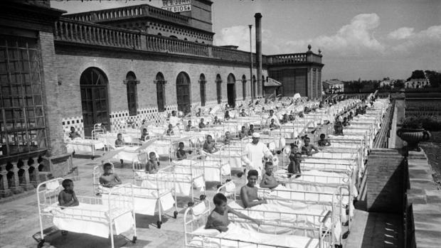 Pati de l'Hospital Sant Joan de Déu 1949