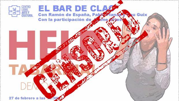 Cartel del evento censurado por el Ayuntamiento de Barcelona