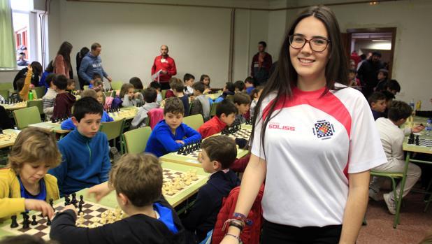 María Alonso, en el Campeonato de Ajedrez en Edad Escolar en Toledo