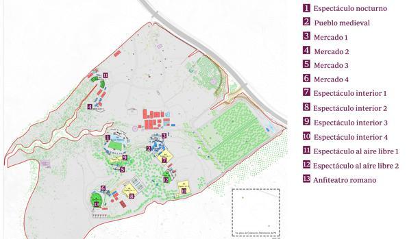 Plano del parque temático Puy de Fou que se construirá en Toledo