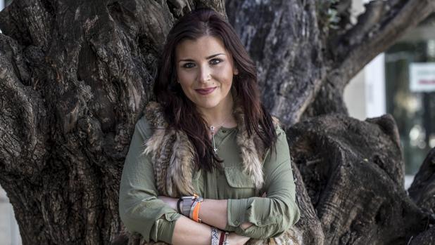 Mari Carmen Sánchez posa momentos previos a la entrevista con ABC