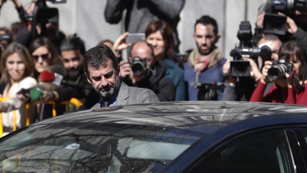 El jefe de los Mossos d'Esquadra, Ferran López, a su salida ayer del Tribunal Supremo