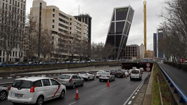 Túnel cerrado parcialmente en Plaza Castilla, el miércoles