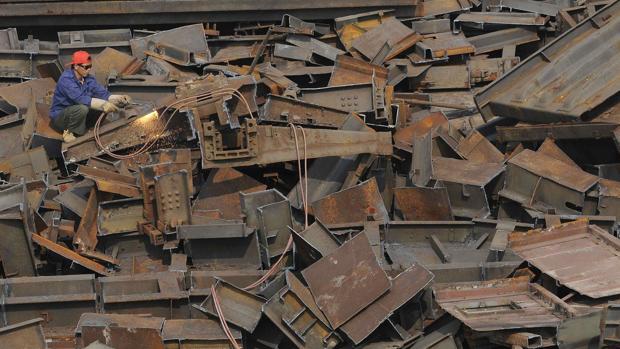 Imagen de archivo de una planta de reciclado siderúrgico