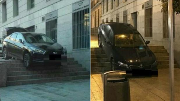 Dos coches VTC atrapados en las mismas escaleras de Pedro Zerolo, en Chueca
