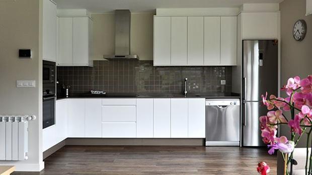 Cocina de una vivienda modular