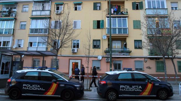 Agentes de Policía Nacional, en una reciente intervención en Madrid
