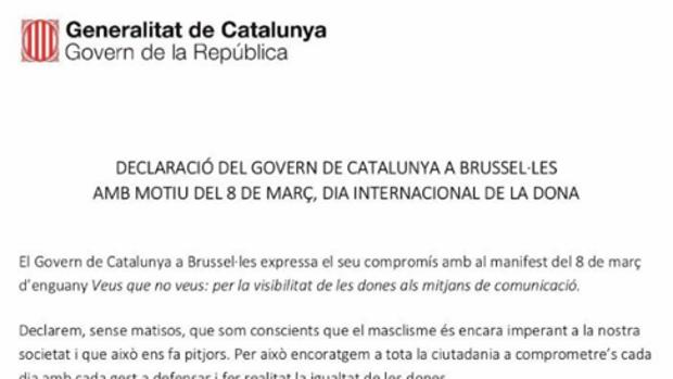 El expresidente de la Generalitat en su última mensaje difundido en las redes sociales